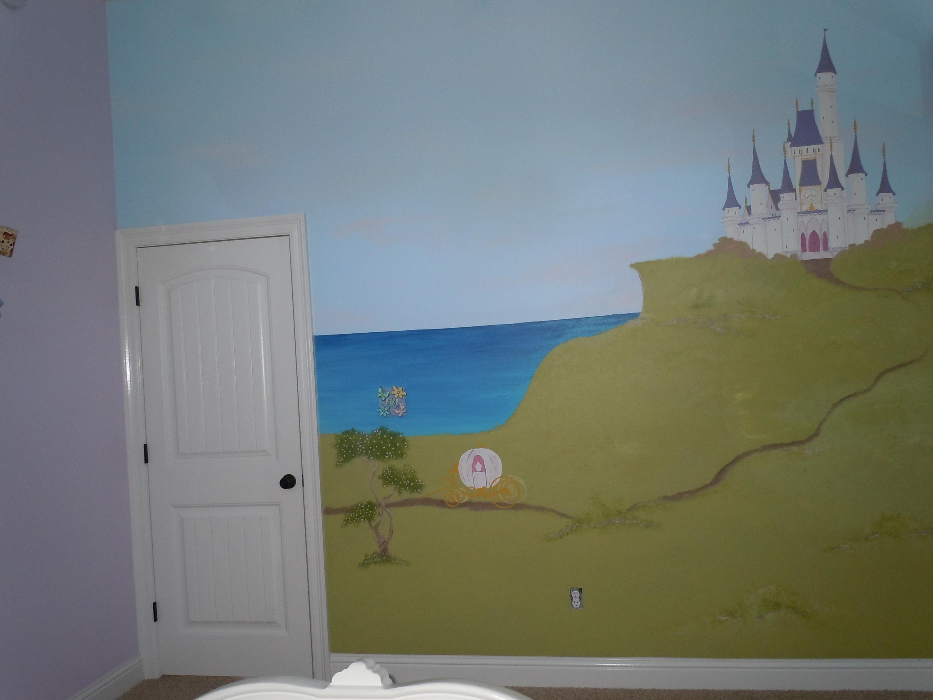 murals and artwork adventure island mural princess castle murals
