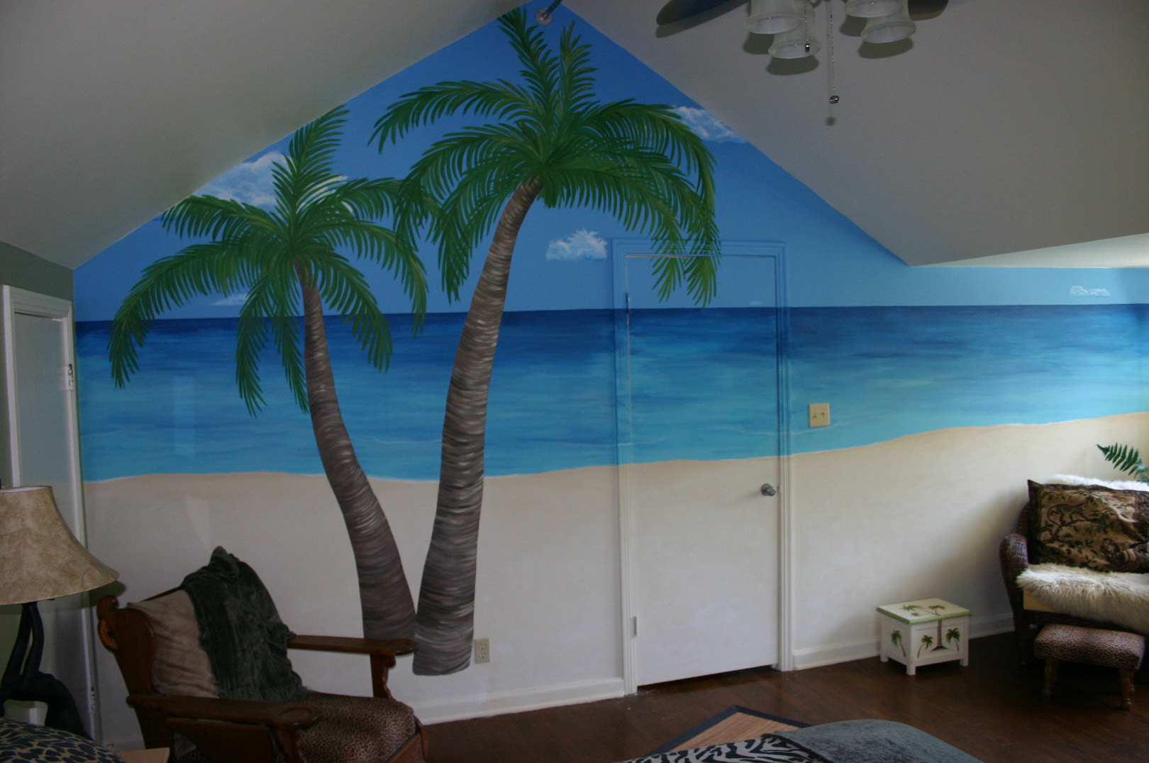 Murals and artwork for Beach mural bedroom